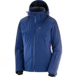 Salomon Womens Brilliant Ski Jacket Medieval Blue