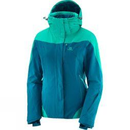 Salomon Womens Icerocket Jacket Deep Lagoon/ Waterfall