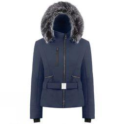 Poivre Blanc Womens Rebecca Faux Fur Jacket Gothic Blue3
