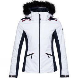 Rossignol Womens 4Way Stretch Ski Jacket Bright White