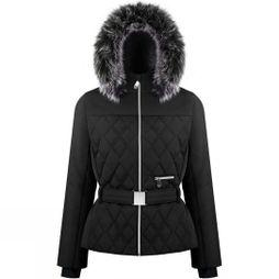 Poivre Blanc Women's Riva Faux Fur Jacket Black