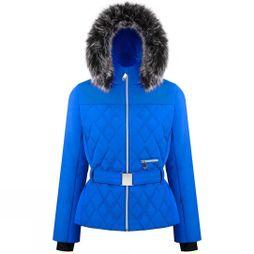 Poivre Blanc Womens Riva Faux Fur Jacket True Blue