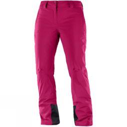 Salomon Womens Icemania Snow Pants Cerise