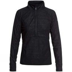 Roxy Womens Cascade Fleece True Black Indie Stripes Emboss