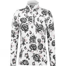 Poivre Blanc Women's Georgia Rose Print Layer Top Black/White