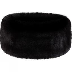 Steiner Winter Women's Wide Faux Fur Headband Chinchilla Black