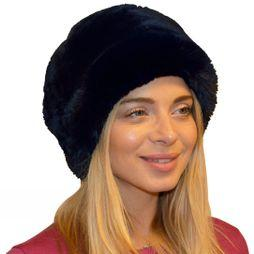 Steiner Winter Women's Fleece Top Cossack Hat Chinchilla Black