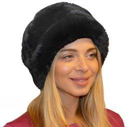 Steiner Winter Women's Fleece Top Cossack Hat Grey Chinchilla
