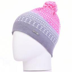K-nit Minter Ditty Bobble Beanie Grey/Pink