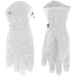 Poivre Blanc Womens Stretch Ski Glove White