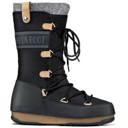 Moon Boots Women's WE Monaco Felt Boot Black