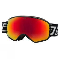 Dirty Dog Men's  Bullet Goggle Black/Red Fusion Mirror