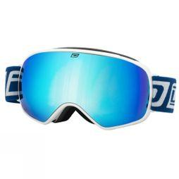 Dirty Dog Men's  Bullet Goggle White/Blue Fusion Mirror