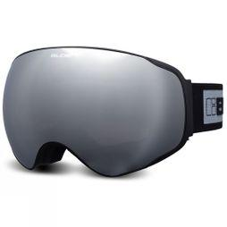 Bloc Unisex Evolution Goggles Matt Black/Silver Mirror