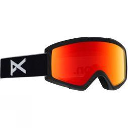 Anon Mens Helix 2.0 Sonar Goggle (Spare Lens Included) BLACK/SONAR RED & AMBER