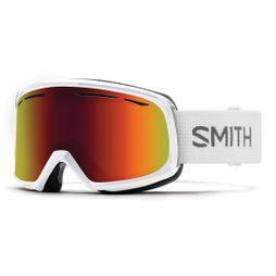 Smith Womens Drift Goggle WHITE/RED SOL X MIRROR