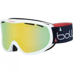 Bolle Womens Sierra Goggle Shiny White & Blue/ Sunshine