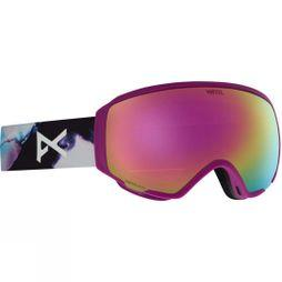 Anon Womens WM1 Goggle (Spare Lens Included) Watercolour/ Sonar Pink and Amber