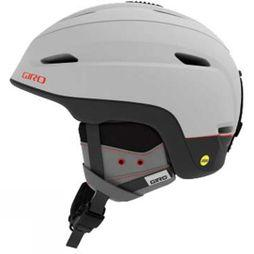 Giro Mens Zone MIPS Helmet  Matte Light Grey/ Vermillon