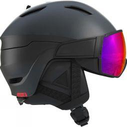 Salomon Mens Driver Helmet Black / Red