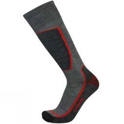 Point6 Mens Ski Light OTC Sock Gray / Red