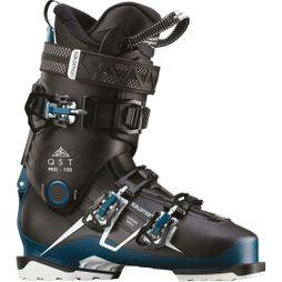 Salomon Mens QST Pro 100 Ski Boots Black / Petrol Blue / White