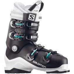 Salomon Womens X Access 70 Wide Ski Boot Black / White / Topaz Green
