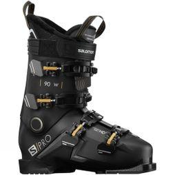 Salomon Womens S/Pro 90W Ski Boot Black Gold