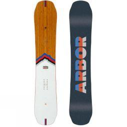 Arbor Mens Shiloh Camber Snowboard Wood / White