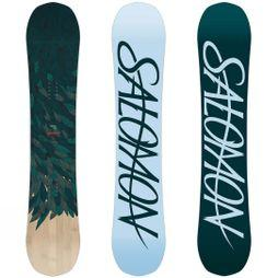 Salomon Womens Rumble Fish Snowboard Dark Green / Teal / Wood