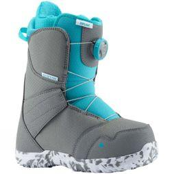 Burton Kids Zipline Boa Snowboard Boot Gray/Surf Blue