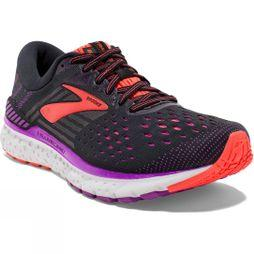 Brooks Womens Transcend 6 Black/Purple/Coral