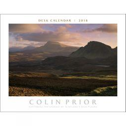 Colin Prior Scotland Panoramic Desk Calendar 2018 No Colour