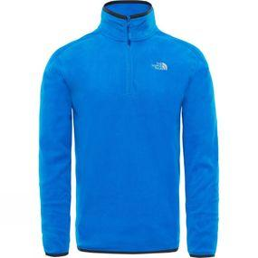 Image of The North Face Men's 100 Glacier 1/4 Zip Bomber Blue