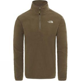 Image of The North Face Men's 100 Glacier 1/4 Zip New Taupe Green