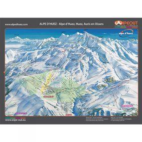 Wipeout Alpe d'heuz Piste Map Lens Cloth