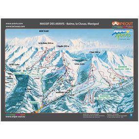 Wipeout Aravis Piste Map Lens Cloth
