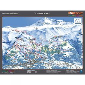 Wipeout Crans Montana Piste Map Lens Cloth