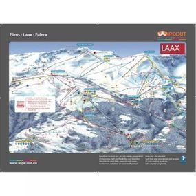 Wipeout Flims and Laax Piste Map Lens Cloth