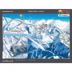 Wipeout Les Deux Alpes Piste Map Lens Cloth