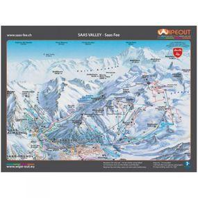 Wipeout Saas Valley Piste Map Lens Cloth