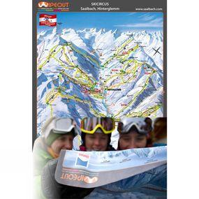 Wipeout Ski Circus Piste Map Lens Cloth