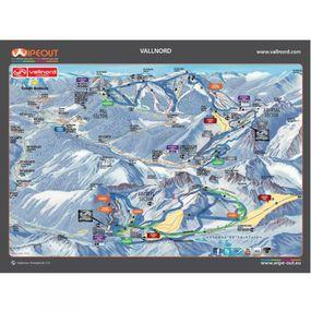 Wipeout Vallnord Piste Map Lens Cloth