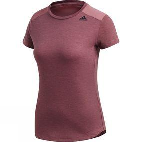Image of Adidas Womens Prime Tee Mix Trace Maroon