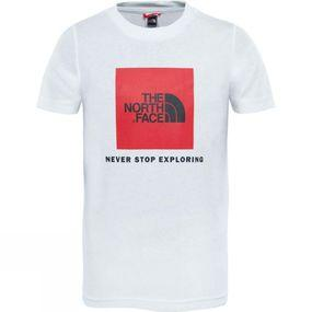 Image of The North Face Youth Box T-Shirt TNF White/TNF Red