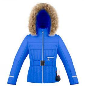Girls Belted Quilted Ski Jacket