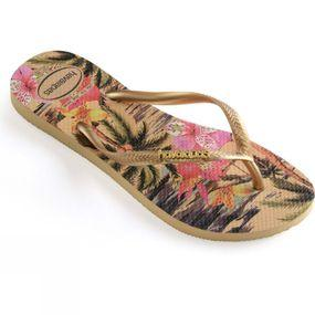 Womens Slim Tropical Flip Flop