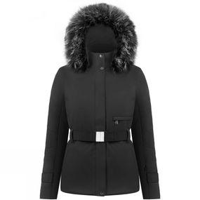 Womens Lauren Long Belted Faux Fur Jacket