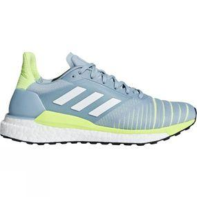 Image of Adidas Womens Solar Glide ASH GREY S18/ftwr white/hi-res yellow