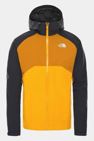 The North Face Men's Stratos Jacket Summit Gold/Asphalt Grey/Citrine Yellow
